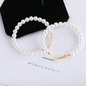 (BI) man-made pearl earrings